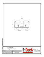 EPS-Deck Concrete Deck Forms - Technical Drawing - 11in EPS-Deck with Steel Supports & 24in wide