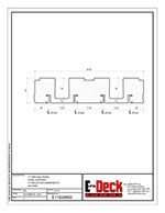 EPS-Deck Concrete Deck Forms - Technical Drawing - 11in EPS-Deck with Steel Supports & 48in wide