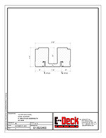 EPS-Deck Concrete Deck Forms - Technical Drawing - 13in EPS-Deck with Steel Supports & 24in wide