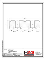 EPS-Deck Concrete Deck Forms - Technical Drawing - 13in EPS-Deck with Steel Supports & 48in wide