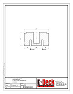 EPS-Deck Concrete Deck Forms - Technical Drawing - 13in EPS-Deck with Wood Supports & 24in wide