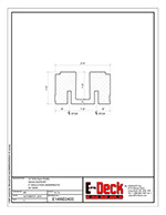 EPS-Deck Concrete Deck Forms - Technical Drawing - 14in EPS-Deck with Wood Supports & 24in wide
