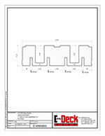 EPS-Deck Concrete Deck Forms - Technical Drawing - 14in EPS-Deck with Wood Supports & 48in wide