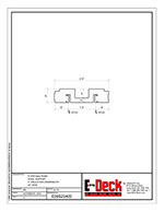 EPS-Deck Concrete Deck Forms - Technical Drawing - 6in EPS-Deck with Steel Supports & 24in wide