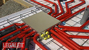 Use Legalett Air Radiant Heated Floors and GEO-Slab Frost Protected Shallow Foundations from with EPS-Deck Concrete Deck Forms